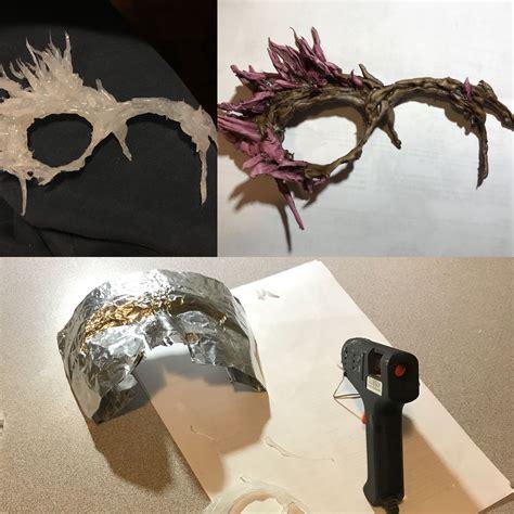 hot glue mask diy   tin foil  map  face