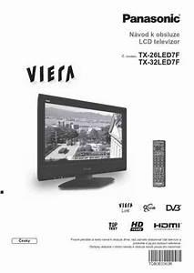 Panasonic Tx 26led7f Viera Tv   Television Download Manual