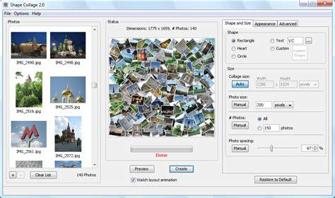 shape collage bildcollagen erstellen