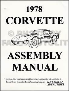 1978 Corvette Original Foldout Wiring Diagram Original