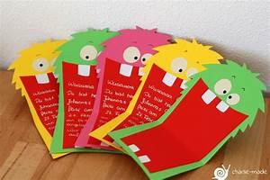 Basteln Kindergeburtstag 5 : charlie made monster einladungskarten mit plotterfreebie ~ Whattoseeinmadrid.com Haus und Dekorationen