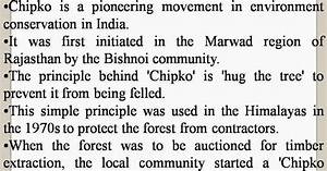 Omtex Classes  Chipko Movement