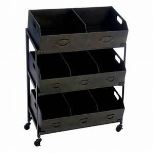 Meuble Casier Rangement : meuble de rangement 8 casiers torof 106cm noir ~ Teatrodelosmanantiales.com Idées de Décoration