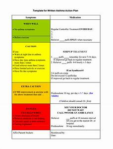 asthma action plan template 13 free sample example With written action plan template