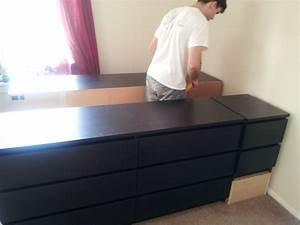 Ikea Hacks Podest : bed frame with lots of storage ikea hackers ~ Watch28wear.com Haus und Dekorationen