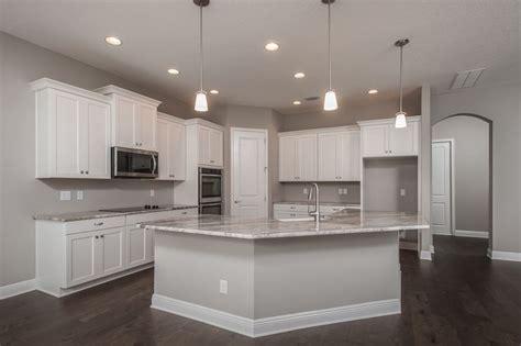 Parker White Cabinets Chesapeake Canyon  Wood Floors