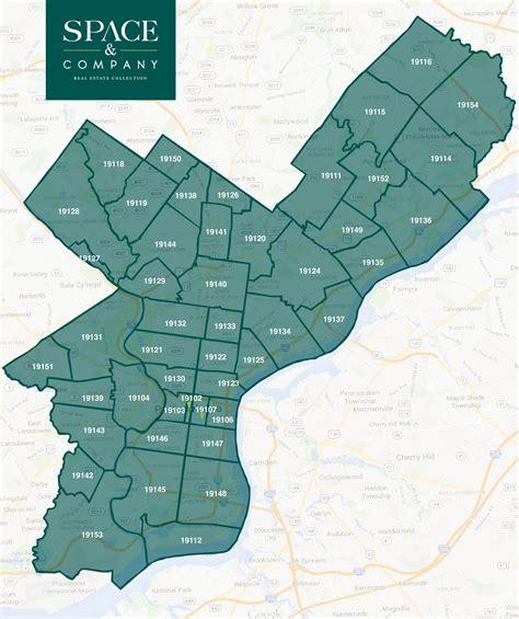 map of philadelphia zip codes zip code map of