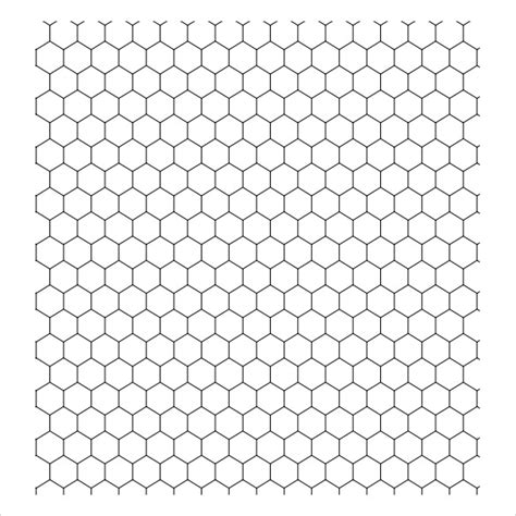 hexagon template 23 sle graph papers sle templates