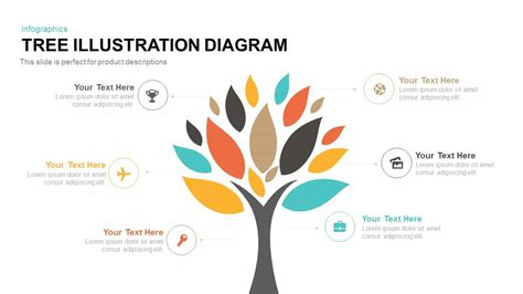 tree illustration diagram template  powerpoint