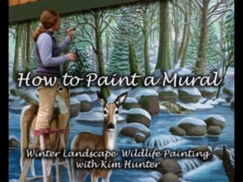 paint  mural step  step winter landscape