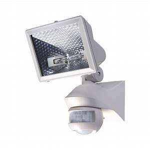 Spot Detecteur De Mouvement : spot co halog ne 500 w luxa blanc avec d tecteur de ~ Dailycaller-alerts.com Idées de Décoration