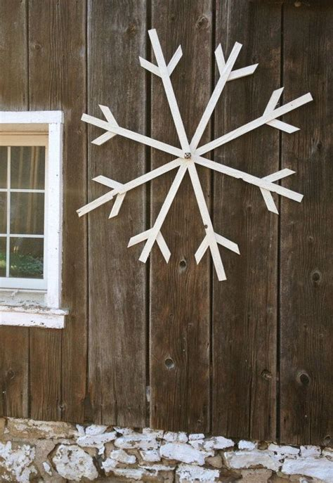 large outdoor snowflake decorations make ahead large glittery white wooden snowflake by