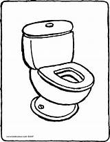 Toilet Coloring Drawing Colouring Kiddicolour Pages Printable Getdrawings Getcolorings sketch template