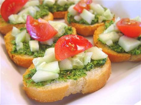easy vegetarian canapes cilantro canapes recipe food com
