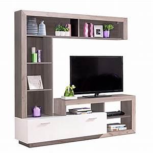 Meuble Tv Avec Etagere : meuble tv pas cher ~ Teatrodelosmanantiales.com Idées de Décoration