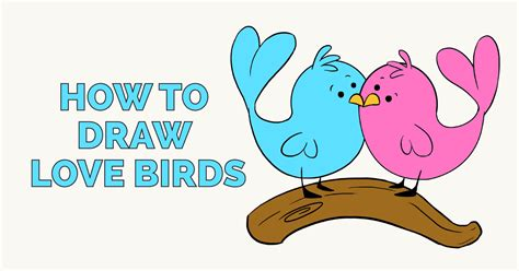 How to Draw Cute Easy Love Bird Drawings