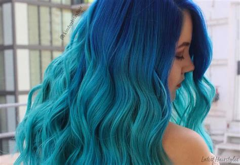 25 Examples Of Blue Ombre Hair Colors Trending In 2019