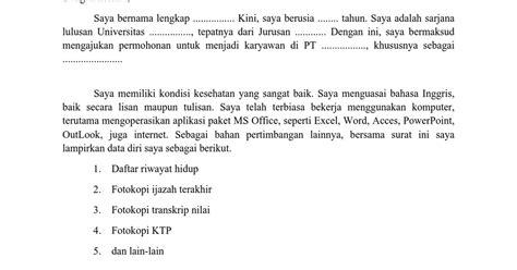 Surat Lamaran Pekerjaan Docx by Contoh Surat Lamaran Umum Viver 233 Afinar O Instrumento