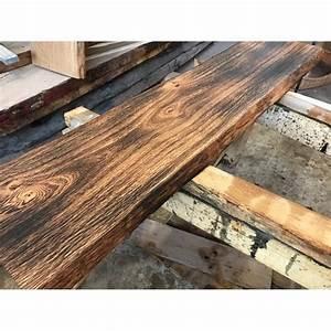 Massivholzplatte Mit Baumkante : eichenbohle geflammt ge lt baumkante altholz stil ~ Michelbontemps.com Haus und Dekorationen