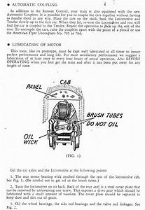 American Flyer Locomotive Worm Drive Instructions