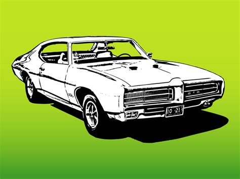 Retro Car Graphics Vector Art & Graphics