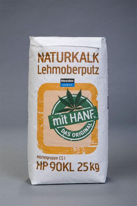 naturkalk lehmoberputz mit hanf  kg sack