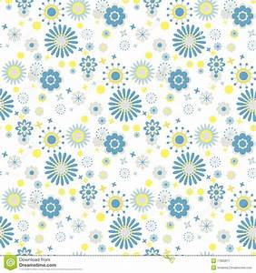 Blue And Yellow Flowers At White Background Royalty Free ...