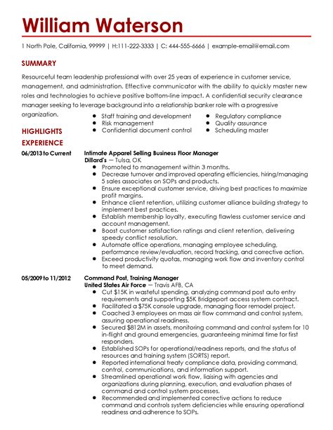 security clearance resume example security clearance on resume resume ideas