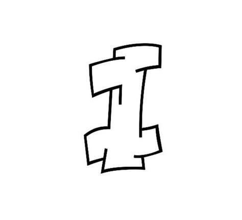 graffiti letter i graffiti letter i coloring page graffiti letter i