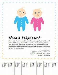 Babysitting flyers flyers and flyer template on pinterest for Babysitting poster template