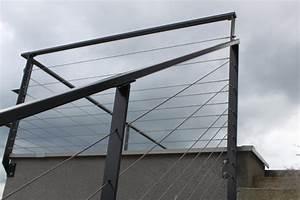 Cable Garde Corps : garde corps rambardes d 39 escaliers ballustrades m tal design contemporain fer allure ~ Voncanada.com Idées de Décoration