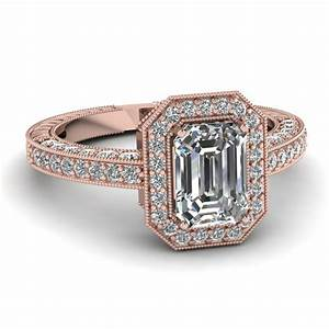 Emerald Cut Octagon Halo Antique Vintage Diamond ...