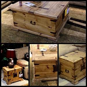 antique trunk style coffee table and end tables With trunk coffee table and end tables