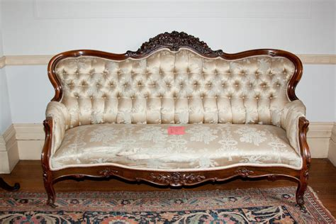 Carved Antique Victorian Sofas  Antiques Center