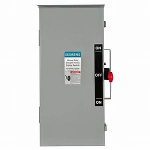 Siemens Double Throw 30 Amp 600
