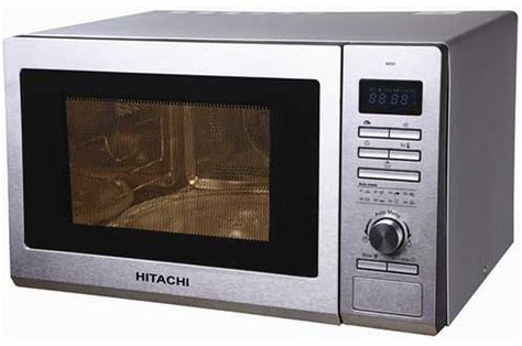 micro ondes hitachi mde25 silver 3469646 darty