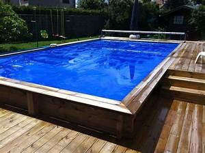 piscine de jardin creusee semi creusee ou hors sol With piscine en bois semi enterree pas cher 2 une piscine semi enterree en beton