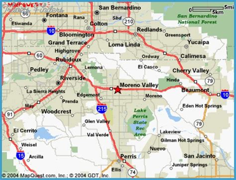 map  riverside  san bernardino counties  travel