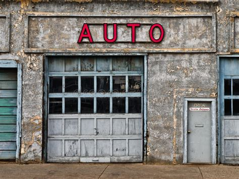 Auto Garage York by Abandoned Auto Shop Stock Image Image Of Architecture