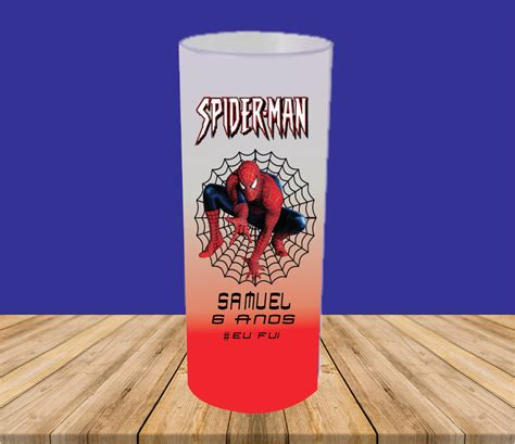COPO LONG DRINK HOMEM ARANHA JATEADO DEGRADÊ no Elo7