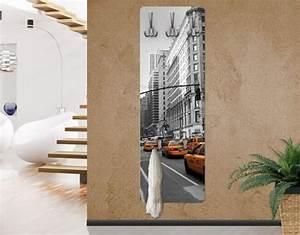 Schöner Wohnen Flur Gestaltung : wandgarderobe new york new york garderobe gelb ~ Lizthompson.info Haus und Dekorationen