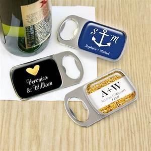 Set personalized bottle opener wedding favor personalized for Bottle opener wedding favor