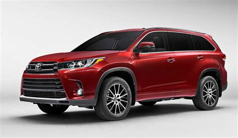 2017 Toyota Highlander Configurations by 2017 Toyota Highlander Preview Revised Styling New V6