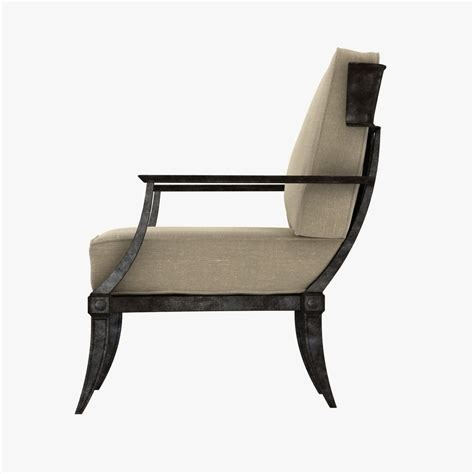 restoration hardware klismos classic loung 3d model