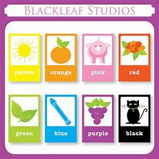 Color Flash Cards  Diy Printable For Toddlers, Primary Education, Nursery Decor, Teaching
