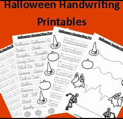 homeschooling freebies halloween handwriting printables