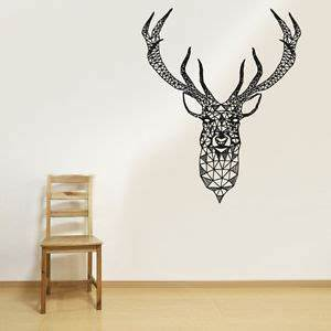 Wall Vinyl Sticker Decal Ornament Pattern Deer Elk Buck