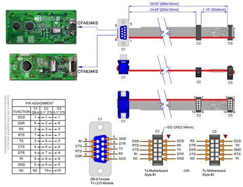 Db9 Connector Wiring Diagram by Db9 To 10 Pin Serial Wr232y23 From Crystalfontz