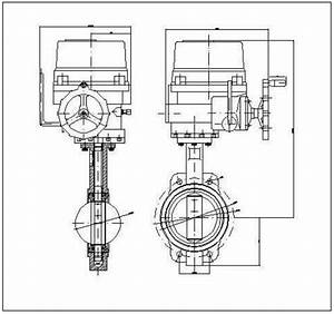 2 Schematic Drawing Of A Butterfly Valve