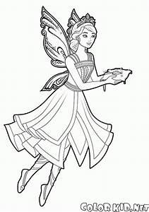 Dibujo para colorear Princesa de hadas del viaje